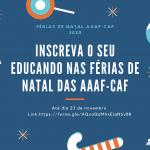 AAAF/CAF: inscrições de Natal até 23 de Novembro.